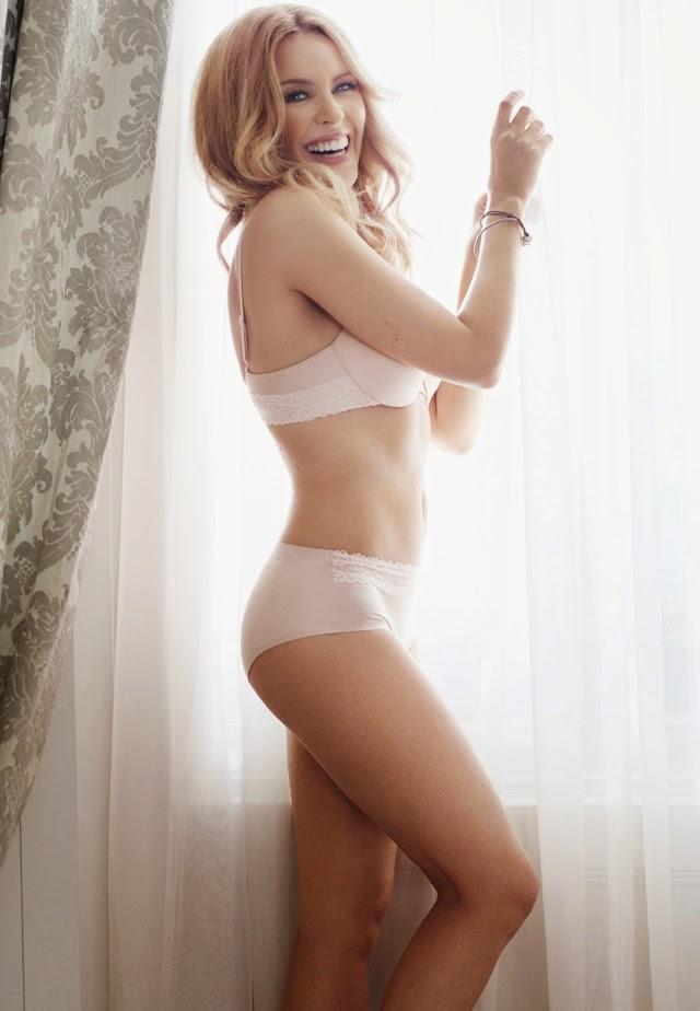 Kylie Minogue en lencería para sloggi