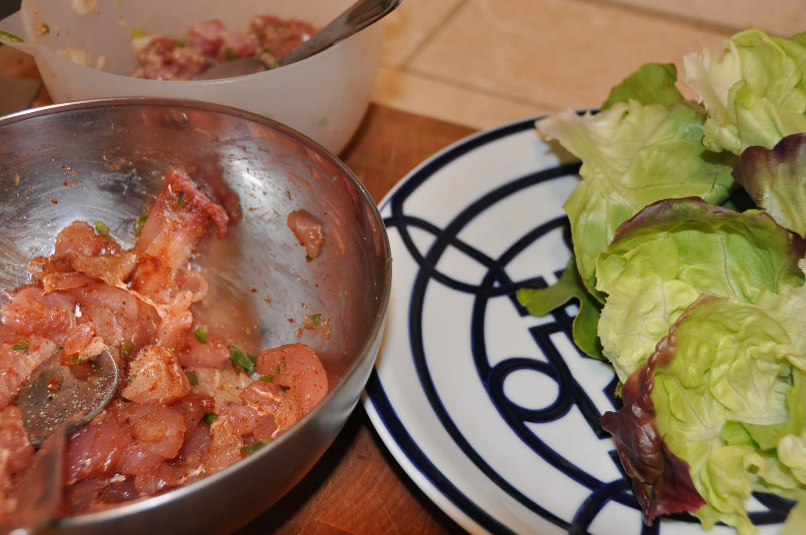 The inspired cook diaries seared ahi lettuce wraps opah for Opah fish recipes
