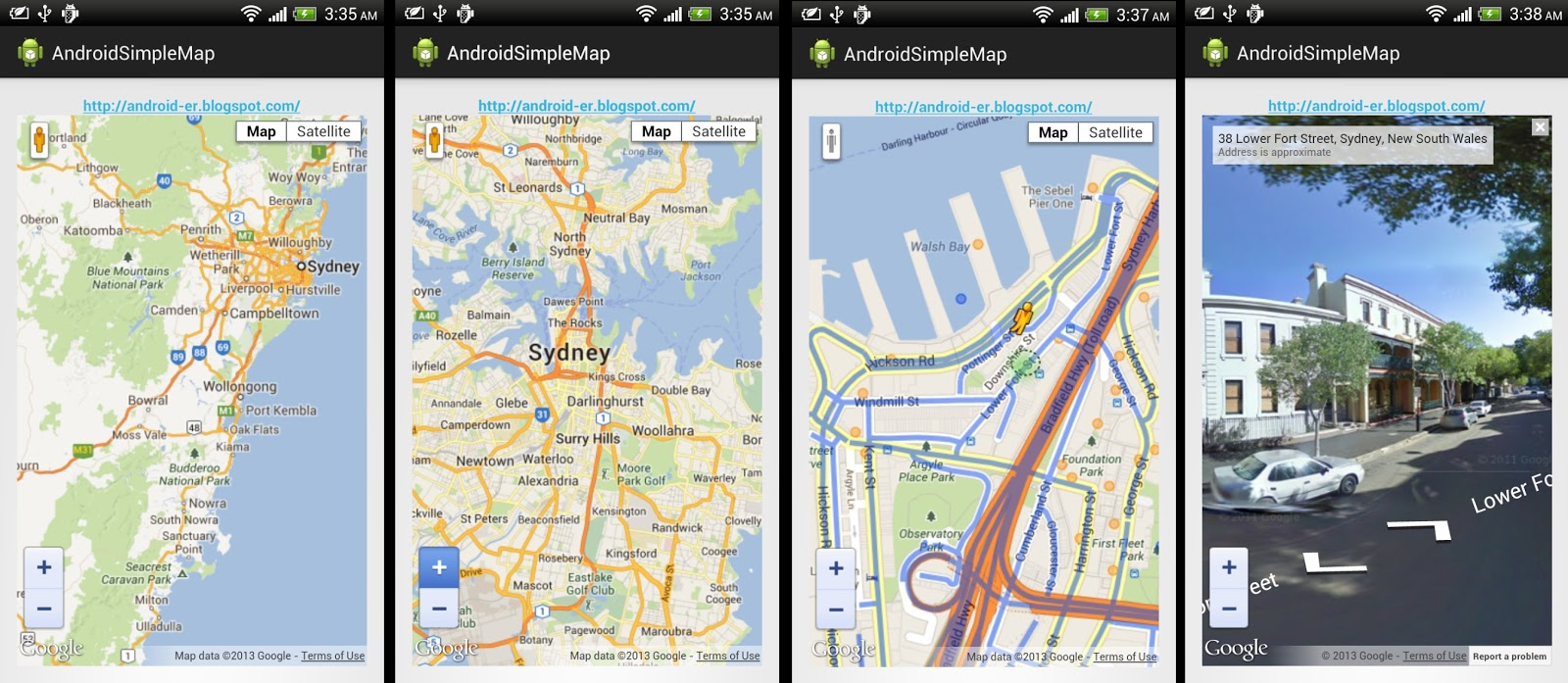 Android Er Embed Html Using Google Maps Javascript Api V3