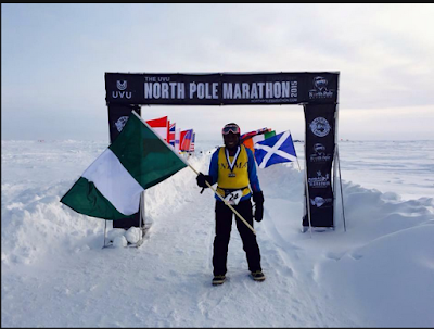 Meet The First Nigerian, Tee Morgan, Who Reached The Finish Line In The North Pole Marathon