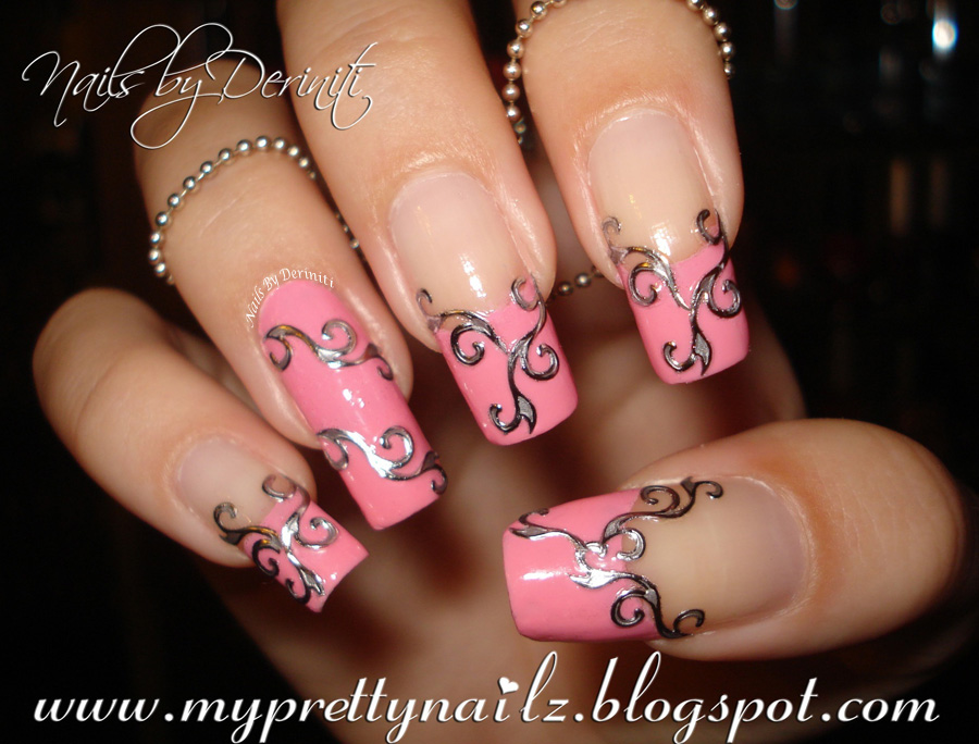 Sinful Colors Pink Forever Born Pretty Store Embossed Metal Style Nail Stickers