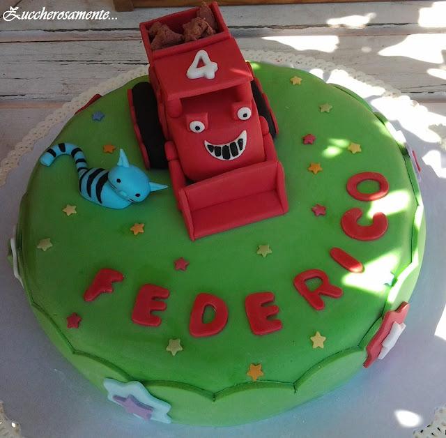 bob builder cake, muck