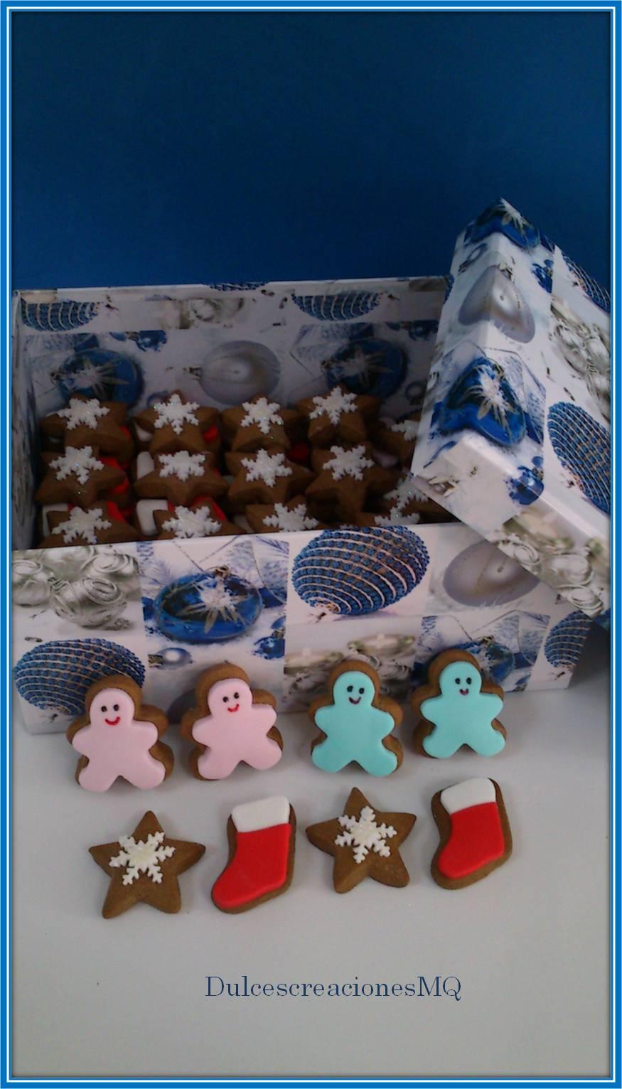 galletas de chocolate dulce navidad estrellas galletas fondant