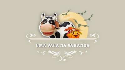Uma vaca na varanda: espírito Halloween