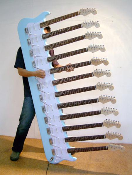doce mastiles en la guitarra fender