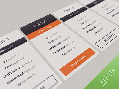 Free Responsive Pricing Table PSD