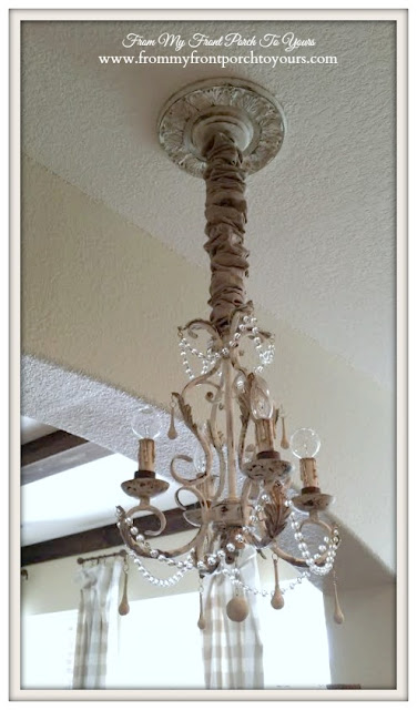 After-French Chandelier Makeover-Chalk Paint- From My Front Porch To Yours