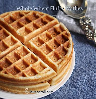 whole wheat waffles | waffles with whole wheat flour