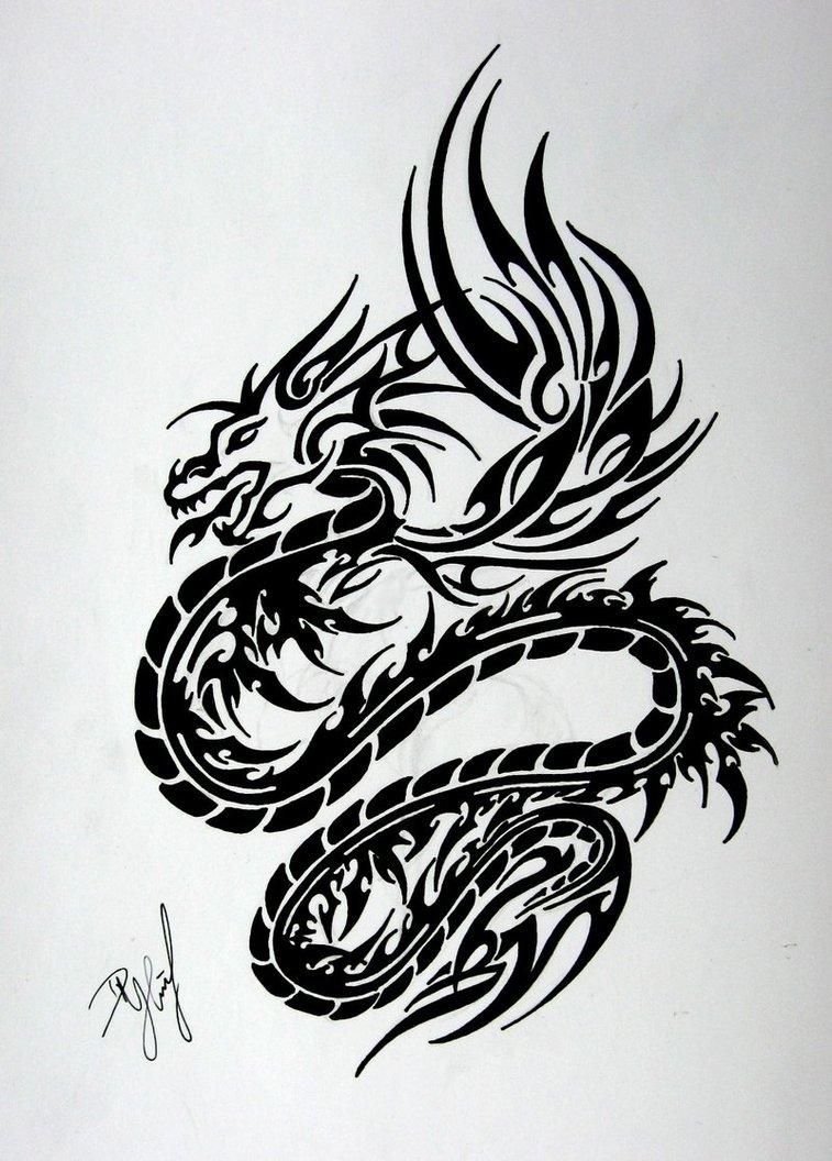 dragon tattoo tribal dragon tattoo. Black Bedroom Furniture Sets. Home Design Ideas