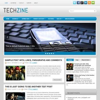 TechZine blog template. patter background blogger template. magazine style template blogspot. free blogspot template