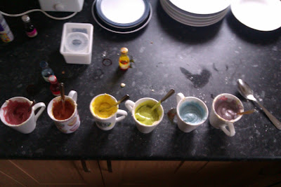 Making Rainbow Cake