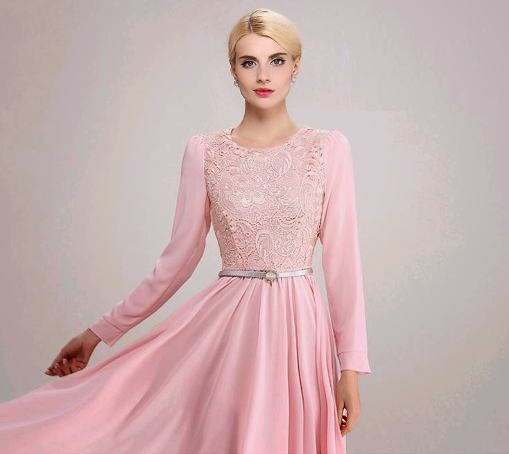 Duchess Fashion: Malaysia Online Clothes Shopping: Long Sleeve Pink ...