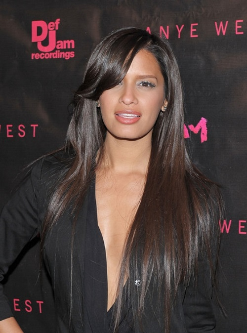 Hairstyles for Black Women with Long Straight Hair with highlight