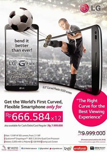 Promo LG G Flex Harga Cicilan Rp 666.584 x 12 Bulan di Erafone