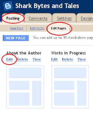 editing pages in Blogspot/ Blogger