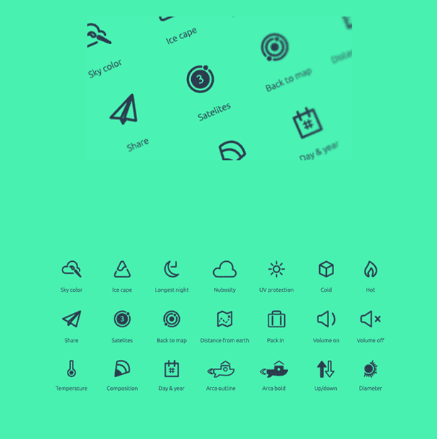 Planetary Icon Set (free)