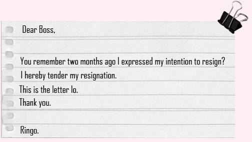 Emails to share styles of resignation letter a bit formal spiritdancerdesigns Image collections