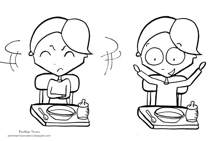 Dibujos para pintar de habitos alimenticios - Imagui