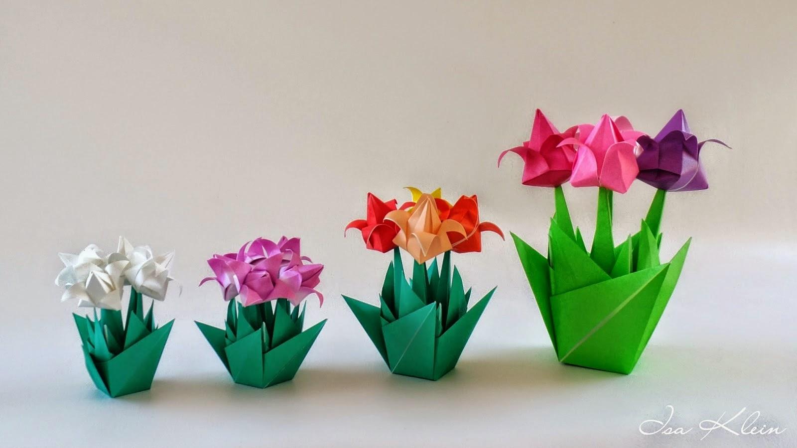 Объёмные цветы оригами своими руками 61