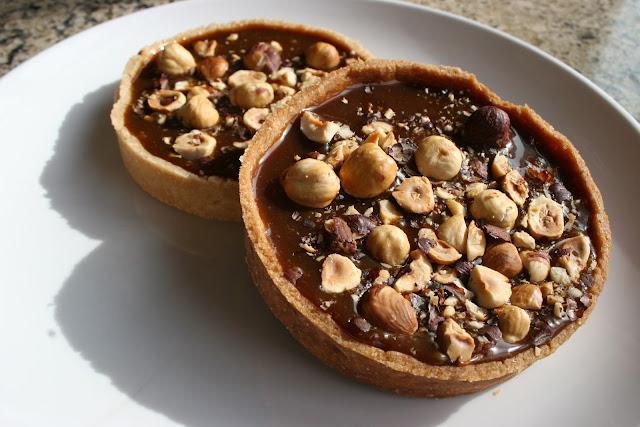 Floriole's Milk Chocolate & Salted Caramel Hazelnut Tart