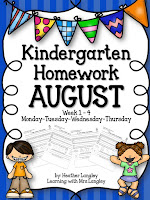 https://www.teacherspayteachers.com/Product/Kindergarten-Homework-AUGUST-1366428