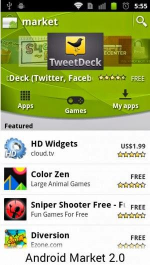 Android 2.0 Lebih memuncul banyak animasi