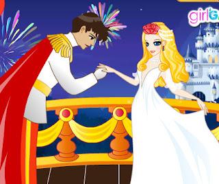 Juego de vestir la princesa para el baile en el castillo