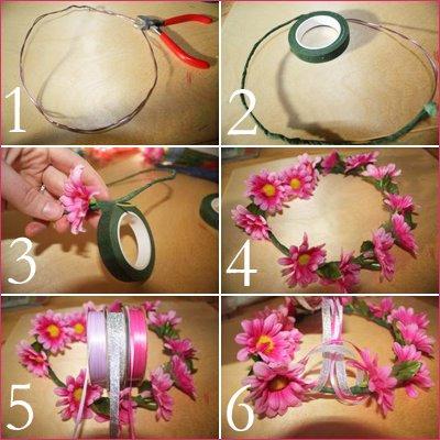 y finalmente nos quedara lista para usar with flores para hacer coronas - Como Hacer Diademas De Flores