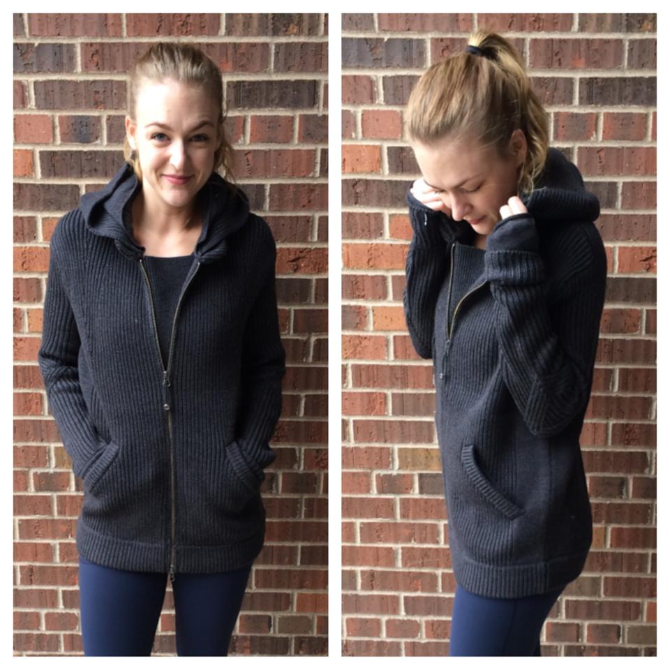 lululemon black sweat-er once a day jacket
