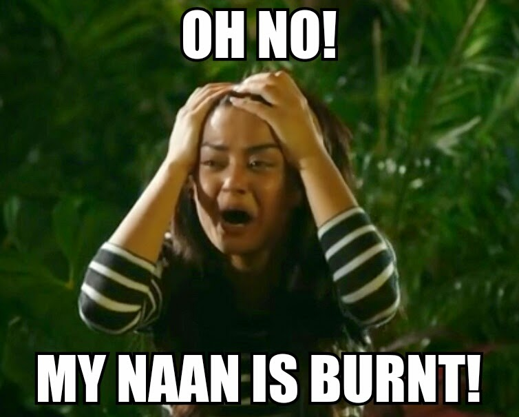 Hate Story 2 - Surveen Chawla, Pain, Bollywood Meme, Burnt Naan