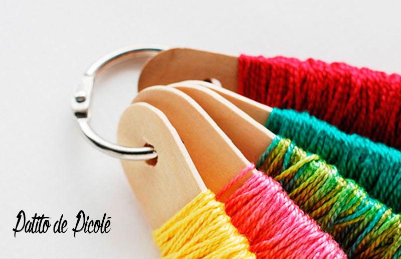 4 ideias 'faça-você-mesma' para organizar a linha de meada: palitos de picolé