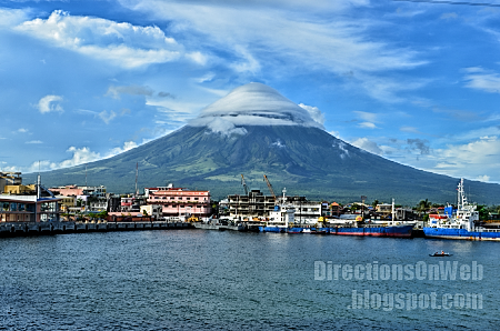 The skyline of Legazpi City in Bicol