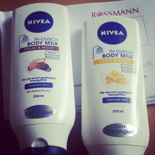 Nivea In-Dusch Body Milk Kakao & Milch und Honig & Milch - review