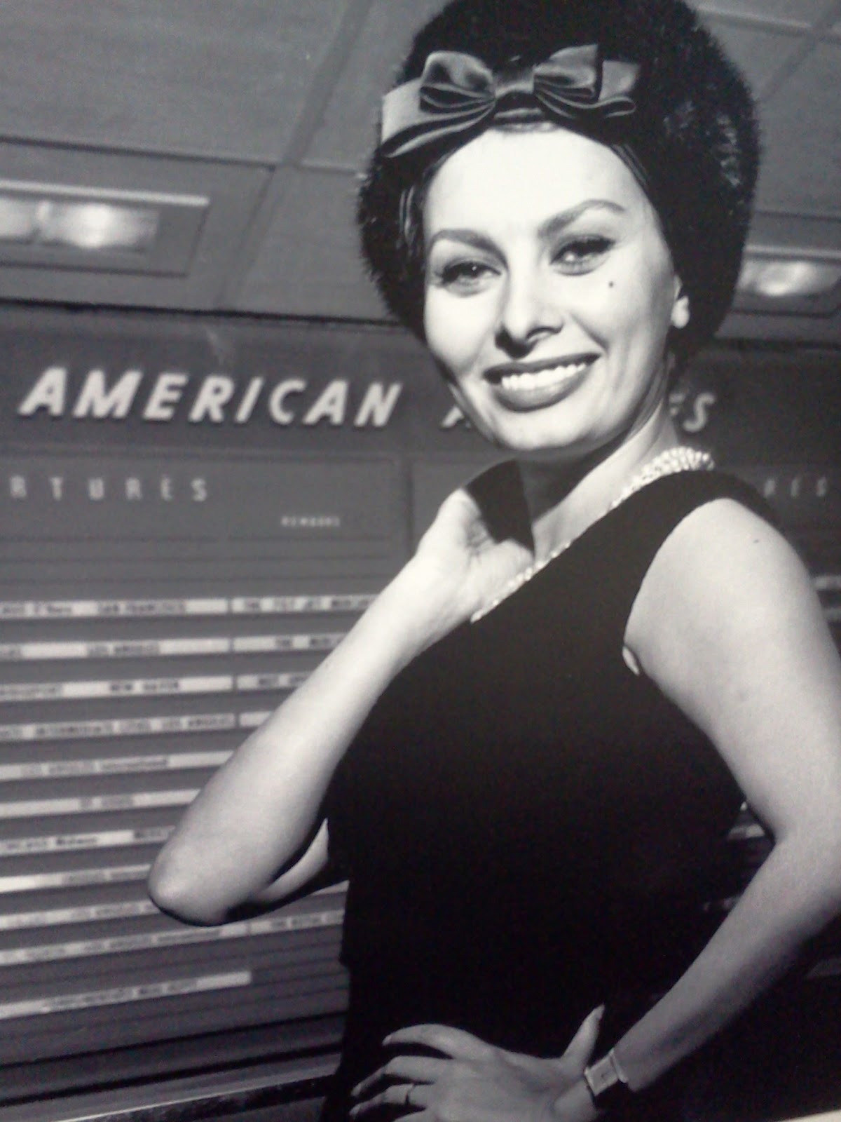 Sophia Loren on American Airlines from C. R. Smith Museum