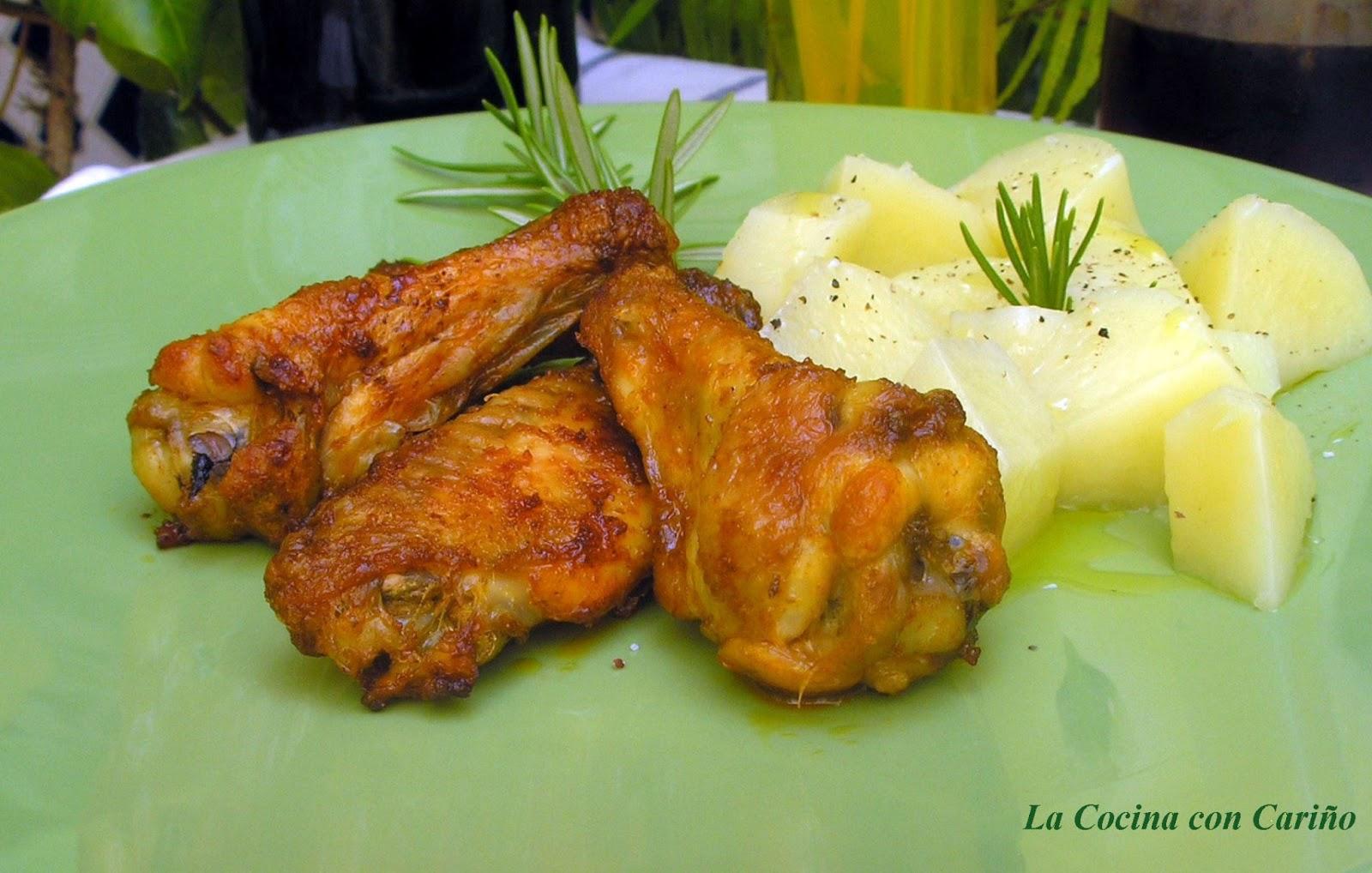 La cocina con cari o alitas de pollo al horno en adobo - Adobo de alitas de pollo ...