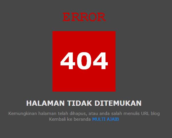 Membuat Halaman Error 404