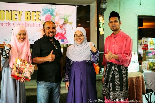 Efah Mustaffa menang Grand Prize dalam Honey Bee Award