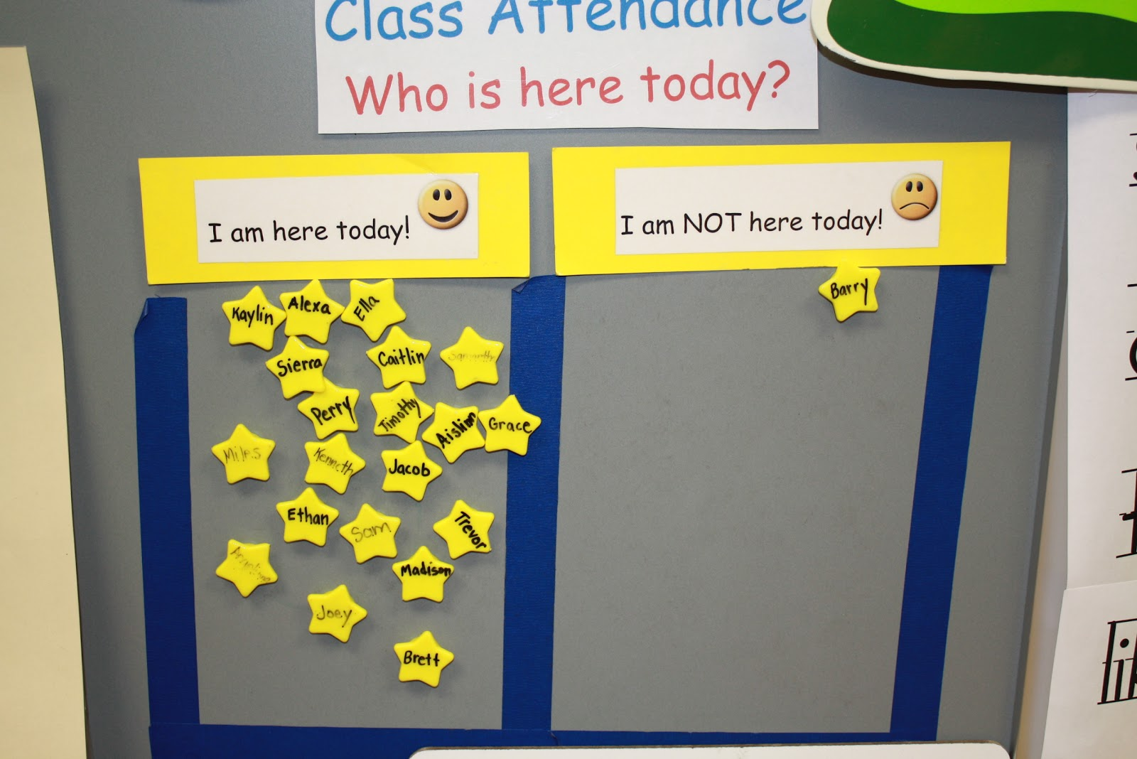 Classroom Attendance Ideas : Attendance sign in for pre kindergarten ideas free image
