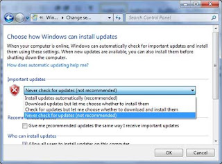 dissable windows update