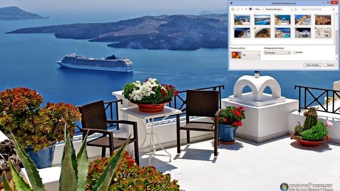 جزيرة سانتورينى اليونانية لويندوز