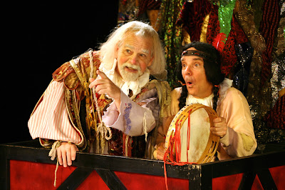 Characters from The Fantasticks perform in the stage production of the Old New York classic