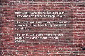 Randy Pausch's Brick Wall quote