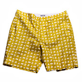 Warriors Mustard Shorts