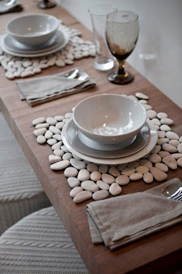 Pebble table mat.
