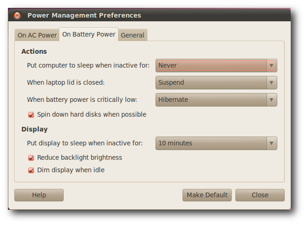 power management in linux