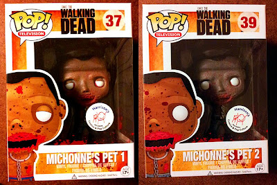 Harrison's Comics Exclusive The Walking Dead Blood Splattered Michonne's Pet Zombies Pop! Vinyl Figures by Funko - Pet Zombie 1 & Pet Zombie 2