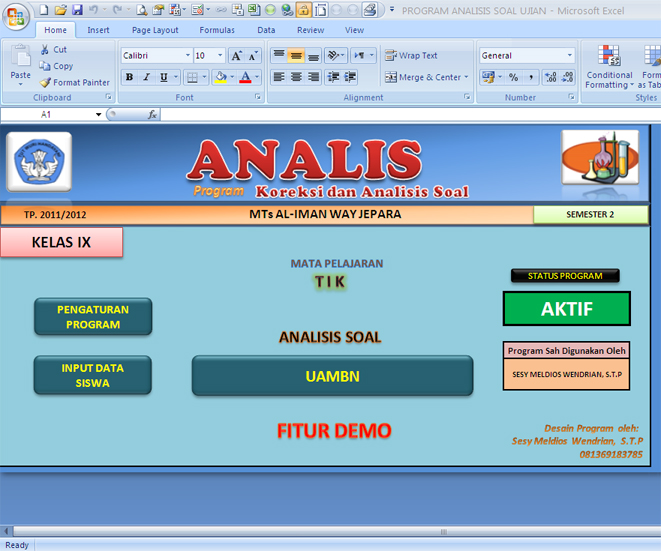 PROGRAM ANALISIS BUTIR SOAL