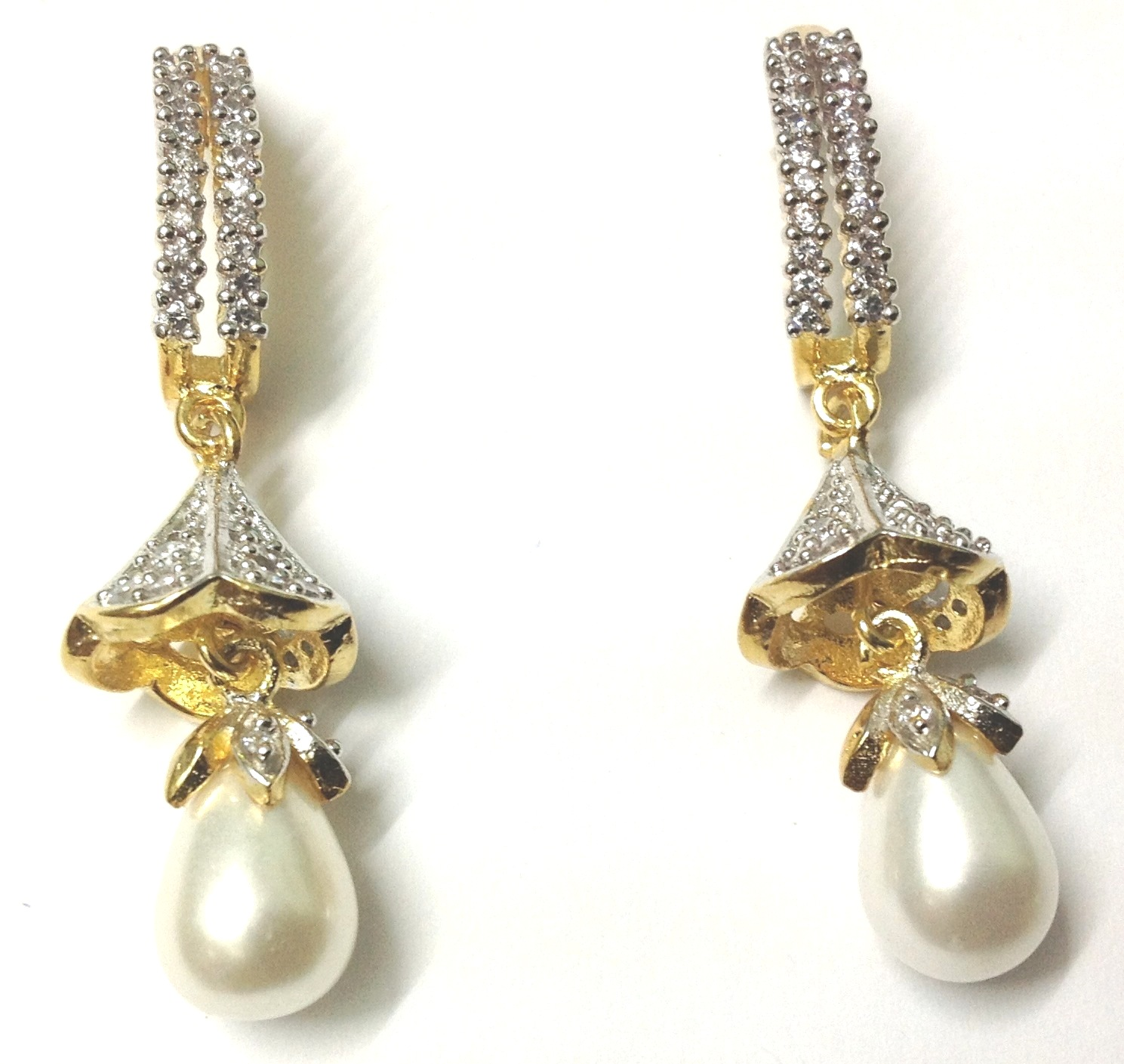 exclusive imitation jewellery american diamond earrings. Black Bedroom Furniture Sets. Home Design Ideas