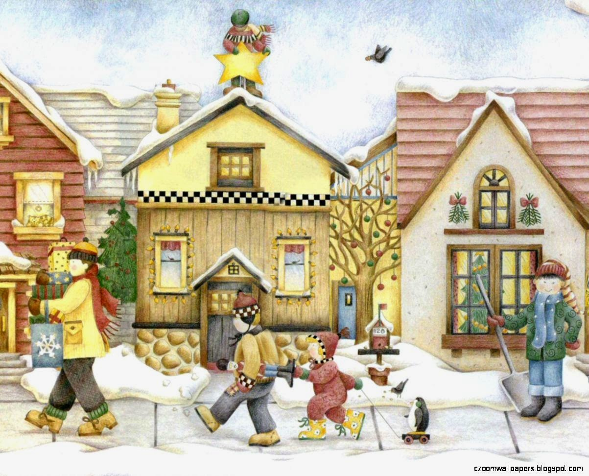 Debbie Mumm Christmas Story Book  Home for the Holiday 1280x1024