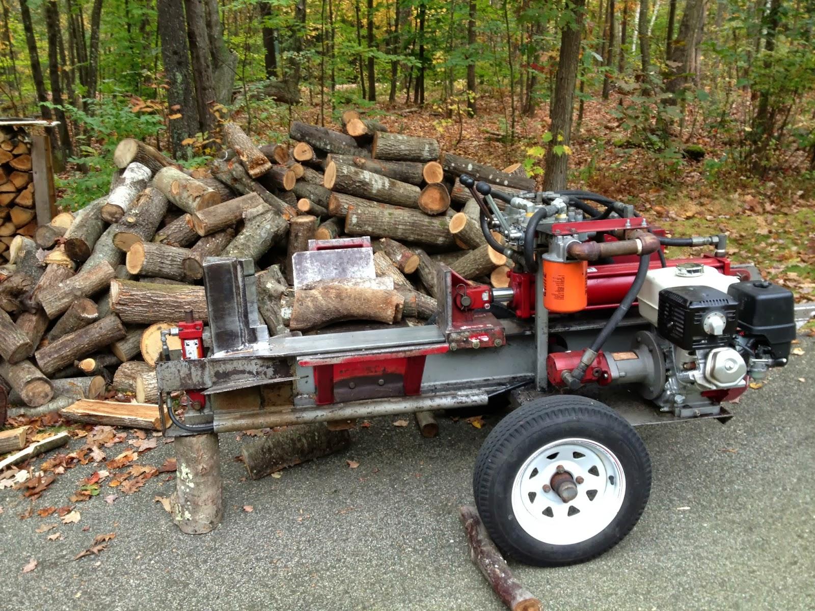 Spicebush Log: Splitting Firewood with a Timberwolf